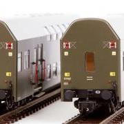 Zespół wagonów piętrowych Bhp (Rivarossi HRS4227)