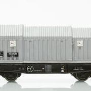 Wagon towarowy z teleskopowymi ścianami Simms (Jan-Kol 420-5)