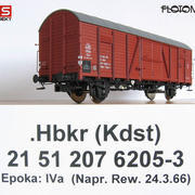 Wagon towarowy kryty .Hbkr (Kdst) (Flotoma / RS Projekt 01/08)
