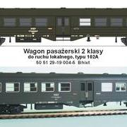 Wagon osobowy 2 kl Ryflak Bhixt (EFC-Loko 050-14)