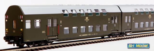 Zespół wagonów piętrowych Bhp (Rivarossi HRS4228)