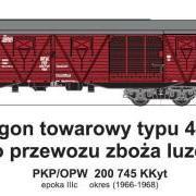 Wagon towarowy kryty KKyt (TMF 551410)