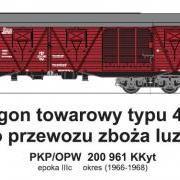 Wagon towarowy kryty KKyt (TMF 551411)