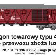 Wagon towarowy kryty .Gags (KKyt) (TMF 551412)
