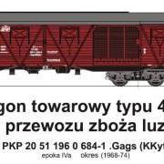 Wagon towarowy kryty .Gags (KKyt) (TMF 551413)