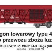 Wagon towarowy kryty .Gags (KKyt) (TMF 551414)
