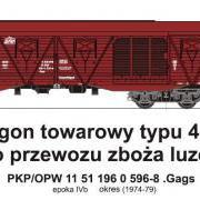 Wagon towarowy kryty .Gags (TMF 551416)