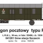 Wagon pocztowy Gmw (TMF 561403)
