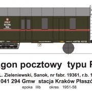 Wagon pocztowy Gmw (TMF 561404)