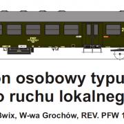 Wagon osobowy 2 kl  Bwix (TMF 571401)
