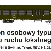 Wagon osobowy 2 kl  Bwix (TMF 571402)