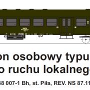 Wagon osobowy 2 kl  Bh (TMF 571403)