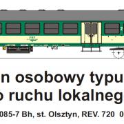 Wagon osobowy 2 kl  Bh (TMF 571405)