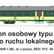 Wagon osobowy 2 kl  Bh (TMF 571406)