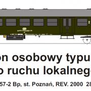 Wagon osobowy 2 kl  Bp (TMF 571407)
