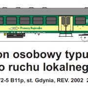 Wagon osobowy 2 kl  B<sup>11</sup>p (TMF 571408)