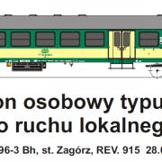 Wagon osobowy 2 kl  Bh (TMF 571409)
