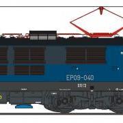 Lokomotywa pospieszna elektryczna EP09 (EFC-Loko EP09040)