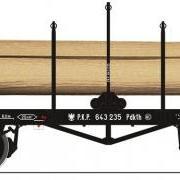 Wagon platforma z kłonicami Pdkth (Fleischmann 525201)