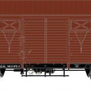 Wagon towarowy kryty .Ggs (Rivarossi HRS6387)