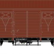 Wagon towarowy kryty Gkks-tx (Rivarossi HRS6389)
